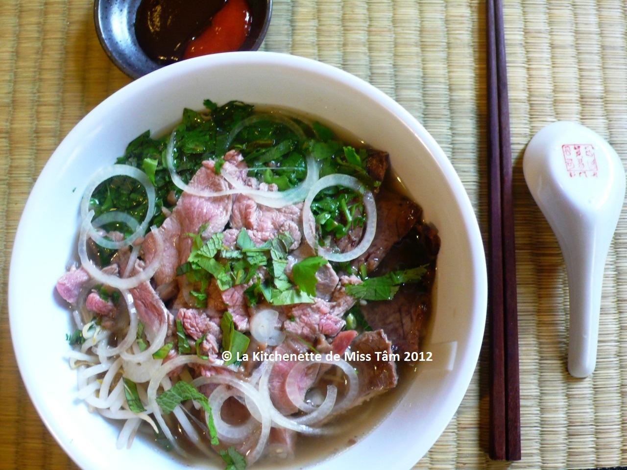 Vietnam ph b soupe pho au boeuf recette et origines la kitchenette de miss t mla - Blog recette de cuisine asiatique ...