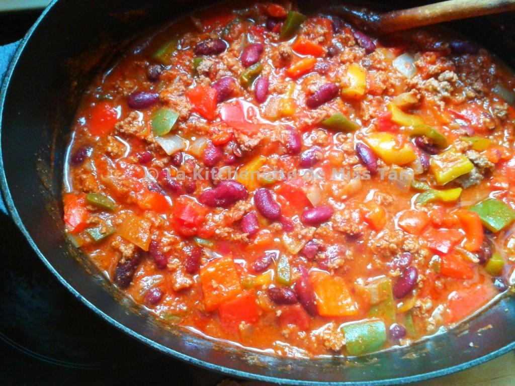 Chili con carne revisit et en musique la kitchenette - Chili con carne maison ...