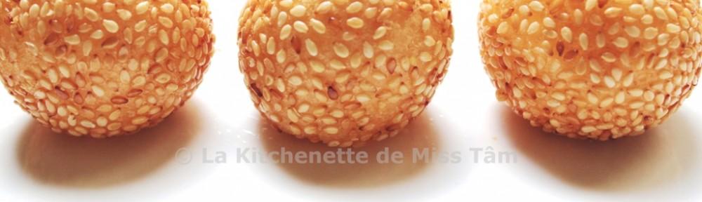 Banh Cam Boule de sésame La Kitchenette de Miss Tâm