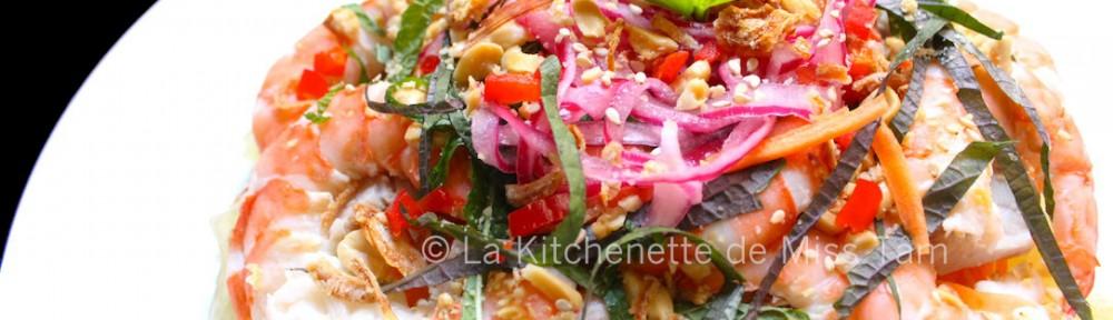 Salade pomelo crevettes La Kitchenette de Miss Tâm