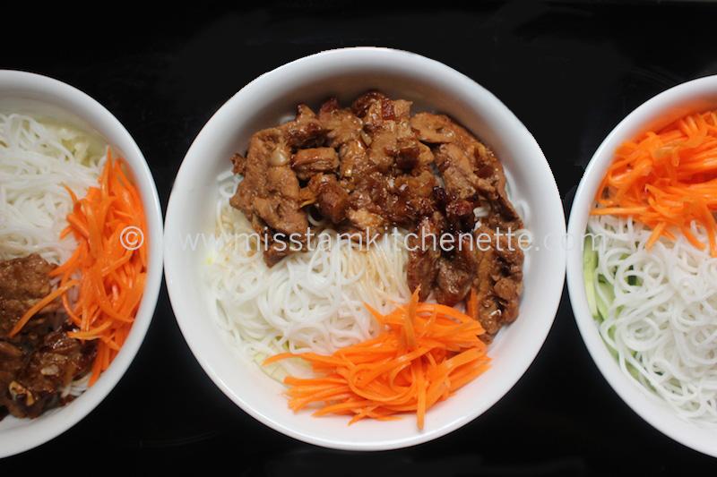 Bun Thit Nuong de La Kitchenette de Miss Tam 9