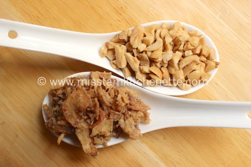 Garnitures Cacahuètes Oignons frits La Kitchenette de Miss Tam