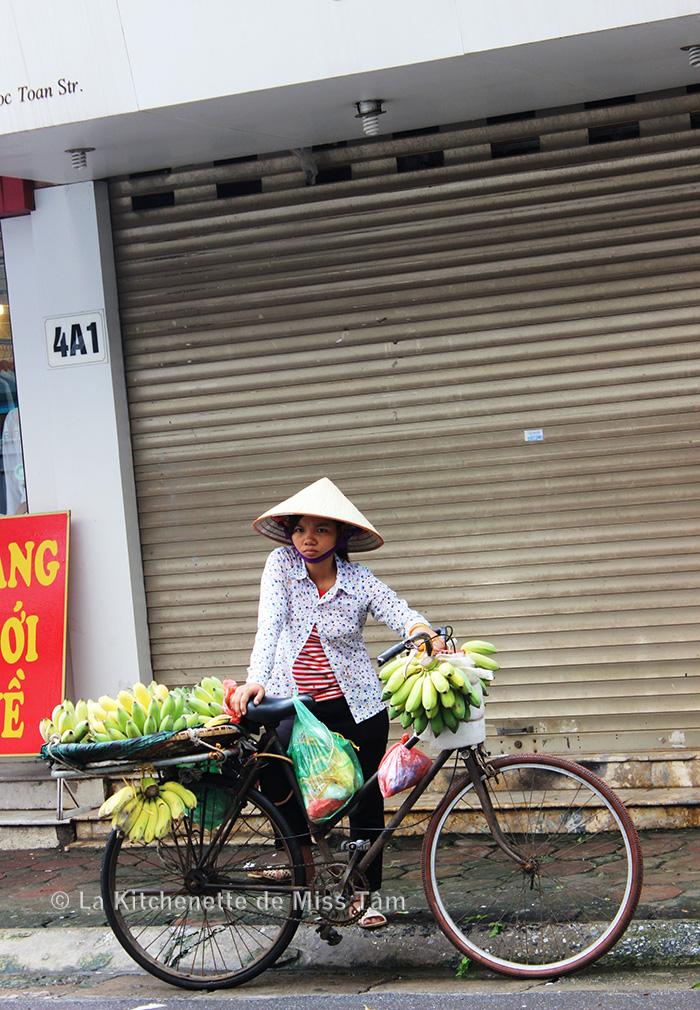 Une marchande de Hanoi, photo prise durant un de mes voyages.